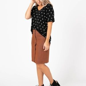 AGNES AND DORA SNAP FRONT SKIRT